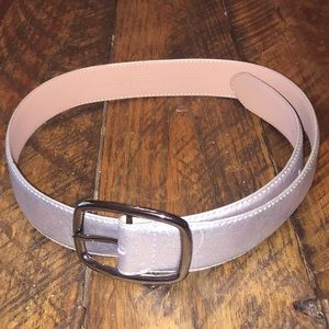 Talbots silver leather belt 40 inches